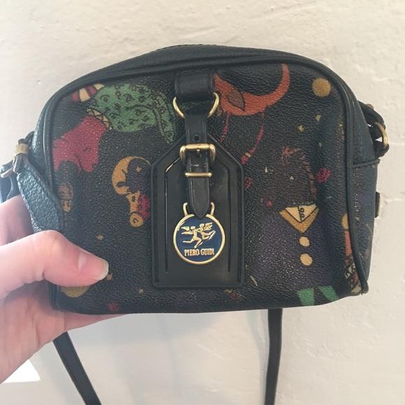 ddf59a42be82 Vintage Piero Guidi Magic Circus Crossbody Bag. M 5af4d0cb36b9de0a0279bd77